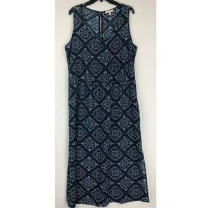 Como Vintage Crepe Maxi Dress 2X